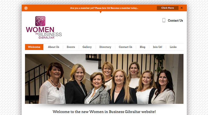 Women in Business Gibraltar website