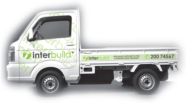 Niche Creative Solutions design for Interbuild vehicle livery