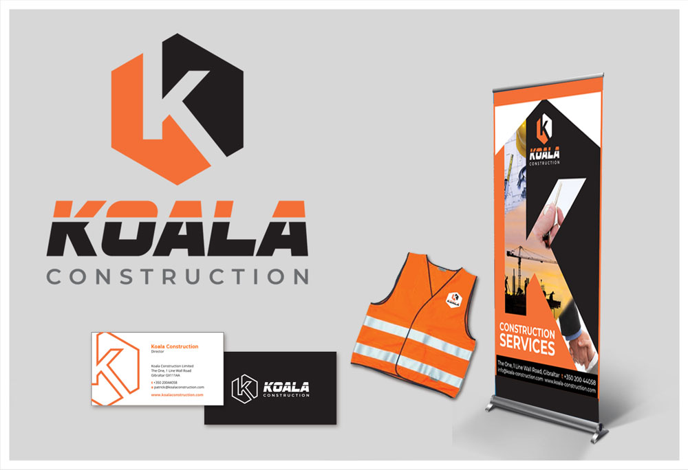 Koala Construction branding, designed by Niche Creative Solutions