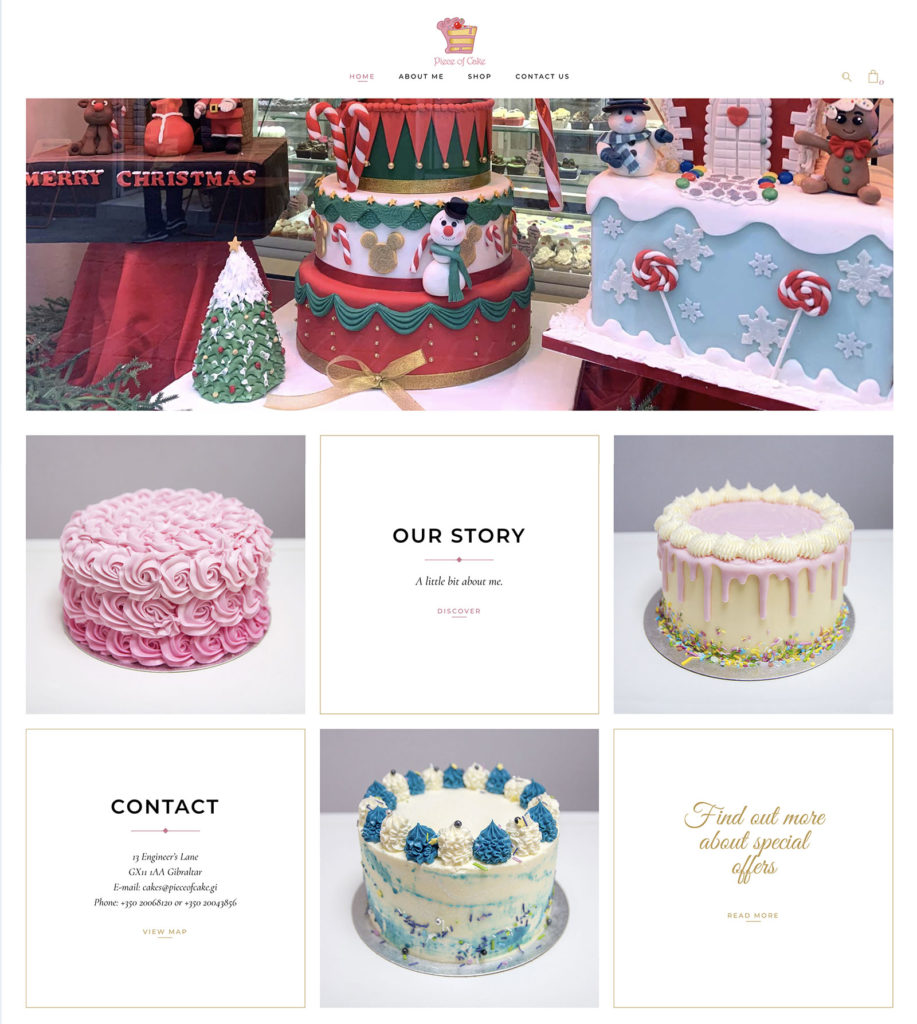 Piece of Cake website, by Niche Creative Solutions